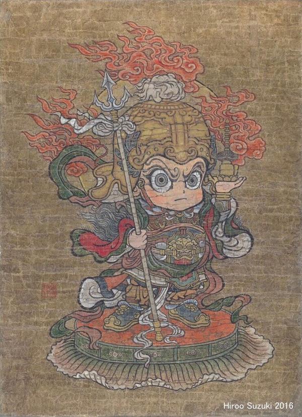 Vaisravana (guardian god of Buddhism) by Hiroo-Suzuki