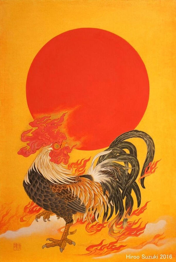 Horn of the rooster by Hiroo-Suzuki