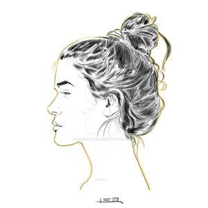Girl profile sketch