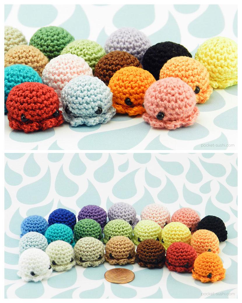 MiniPus - Amigurumi Mini Octopi by pocket-sushi on DeviantArt