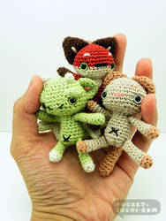 Mini Amigurumi Plush Dolls