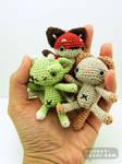 Mini Amigurumi Plush Dolls
