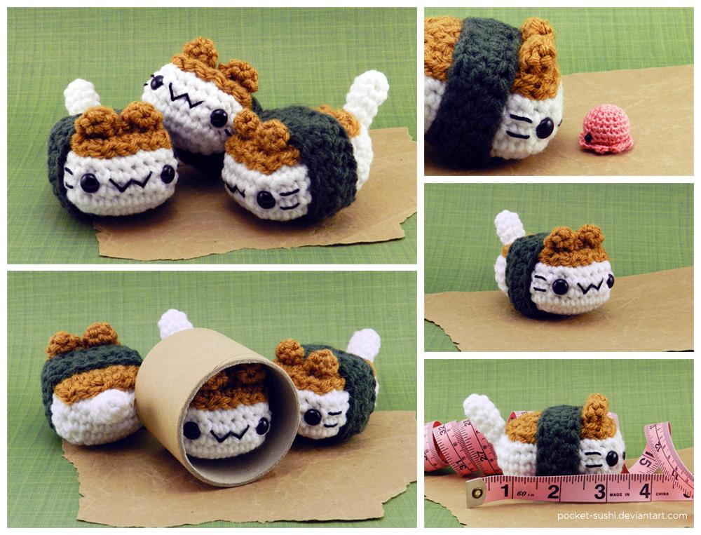 Musubi Cat Amigurumi Plush by pocket-sushi on DeviantArt