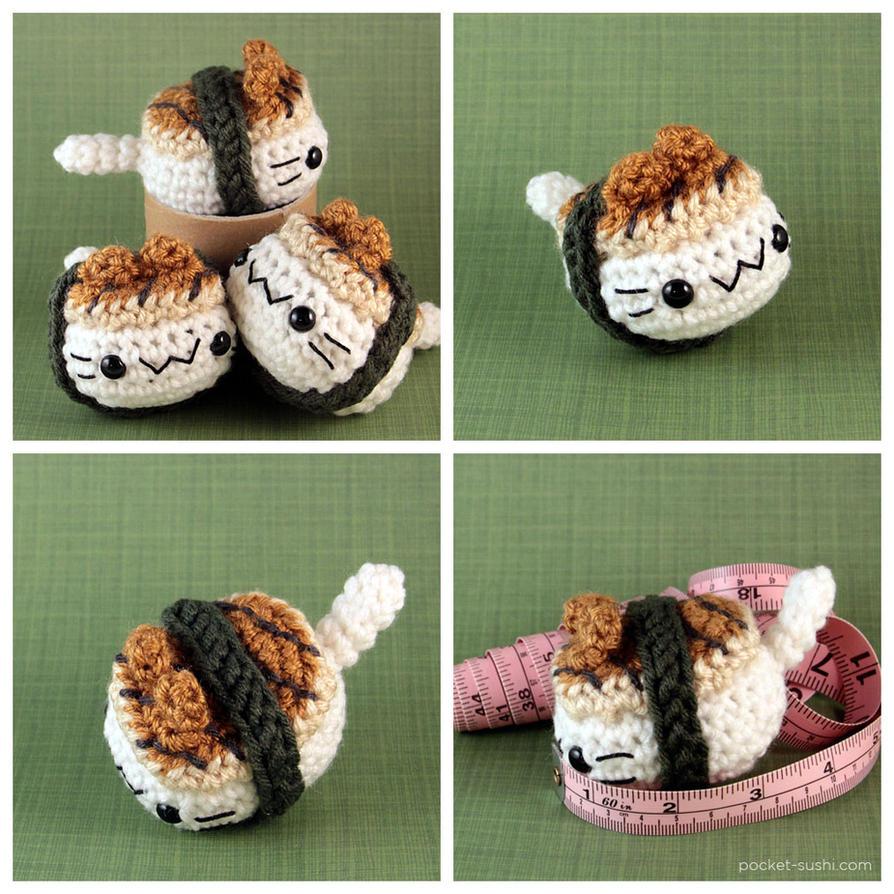 Amigurumi Sushi Cat : Unagi Nigiri Cat by pocket-sushi on deviantART