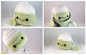 Amigurumi Tea Bag by pocket-sushi