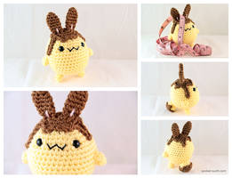 Flan-Bun - Amigurumi Plush by pocket-sushi