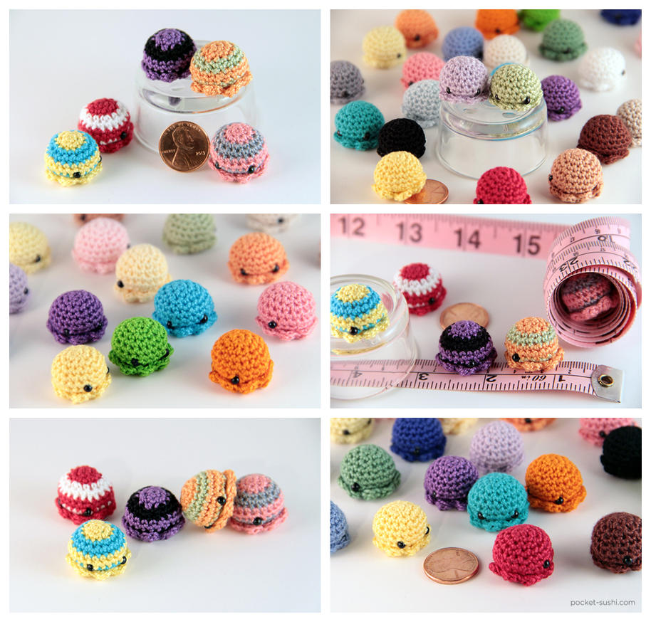 Amigurumi Stripes Tutorial : MiniPus - Miniature Amigurumi Octopus by pocket-sushi on ...
