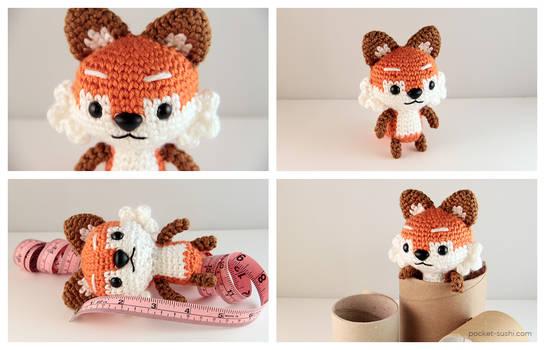 22 16 CM Small Dinosaur Fox Doll Crochet Hand Knitted Amigurumi ... | 350x545
