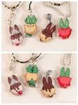 Food Bunny Acrylic Charms