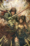 guy and girl warriors
