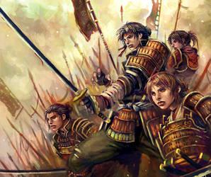 red samurais by longai