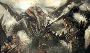 Three knights, One dragon