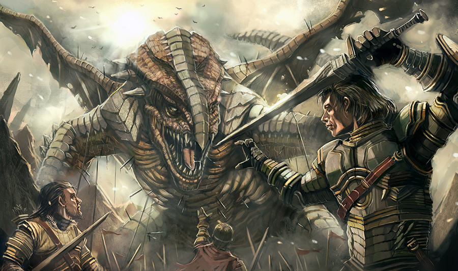 Image result for knights fighting dragons