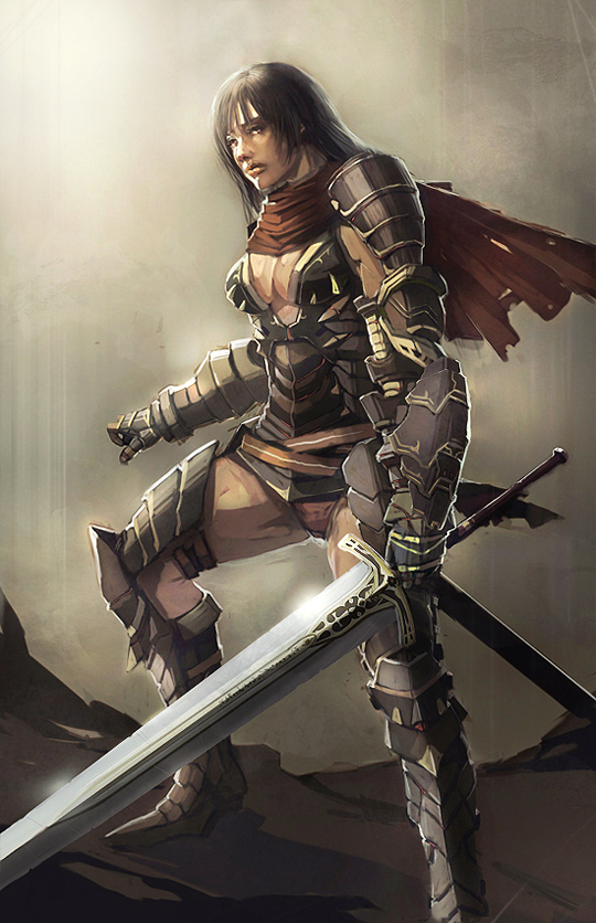 Female warrior by longai