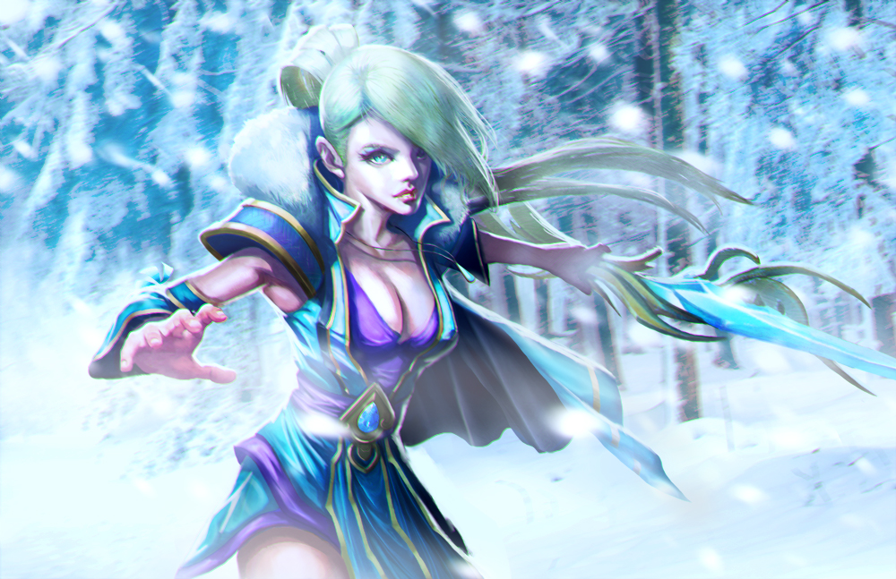 Crystal Maiden Dota 2 Immortals: Crystal Maiden Loading Screen By Longai On DeviantArt