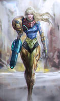 Samus battle damaged