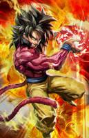 Super saiyan 4 Goku by longai