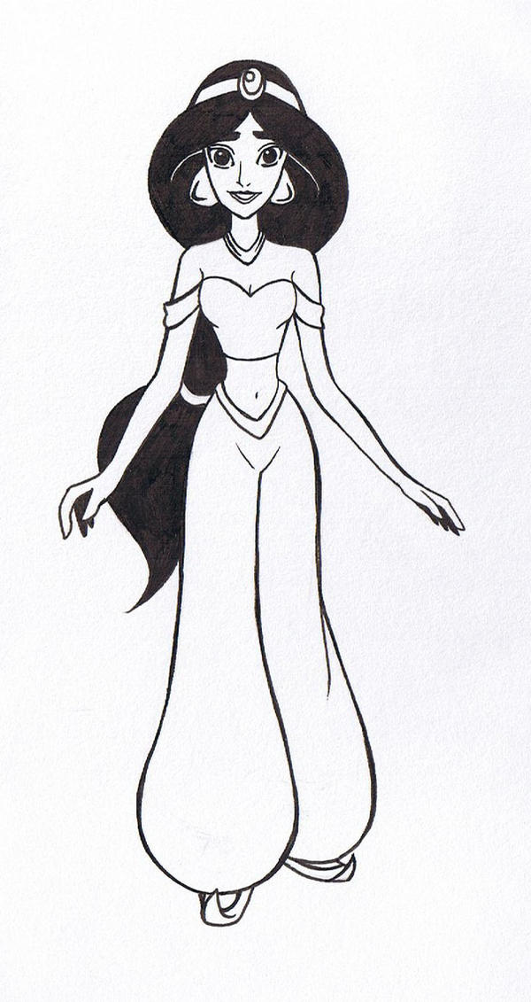 Line Drawing Disney : Princess jasmine line art by nonsensicle on deviantart