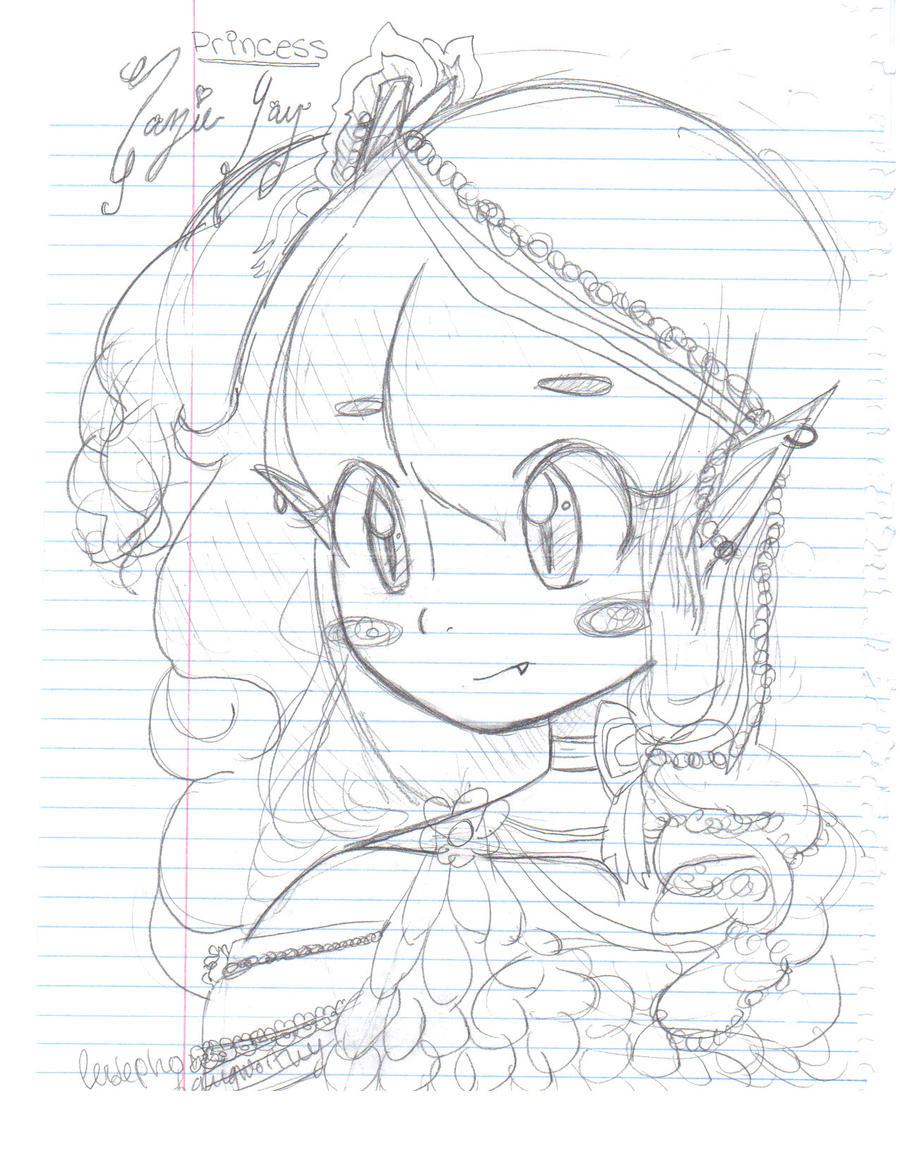 Anime Girl Princess Sketch By Tsunjanai On DeviantArt
