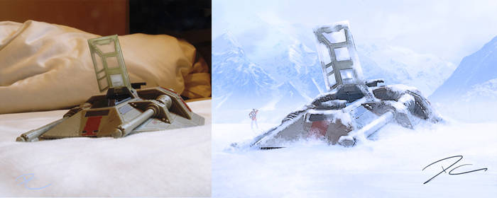 Turning a Star Wars Toy into a Matte Painting