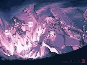 TJ Caris' Estella and Loreane by MikazukiArt