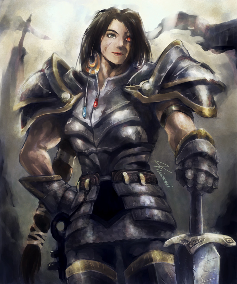 Lady Grey Warden by MikazukiArt