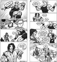 Xailan vs Alika 'Chess Match' by MikazukiArt
