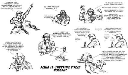 Crazy Cheers from Alika by MikazukiArt