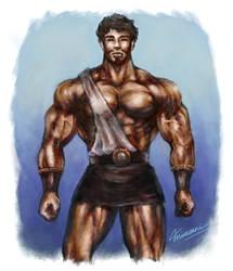 He Looks Like Hercules by MikazukiArt