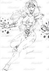 Phoenix Sketch by MikazukiArt