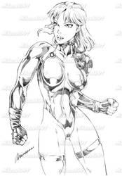 Caitlin Sketch by MikazukiArt