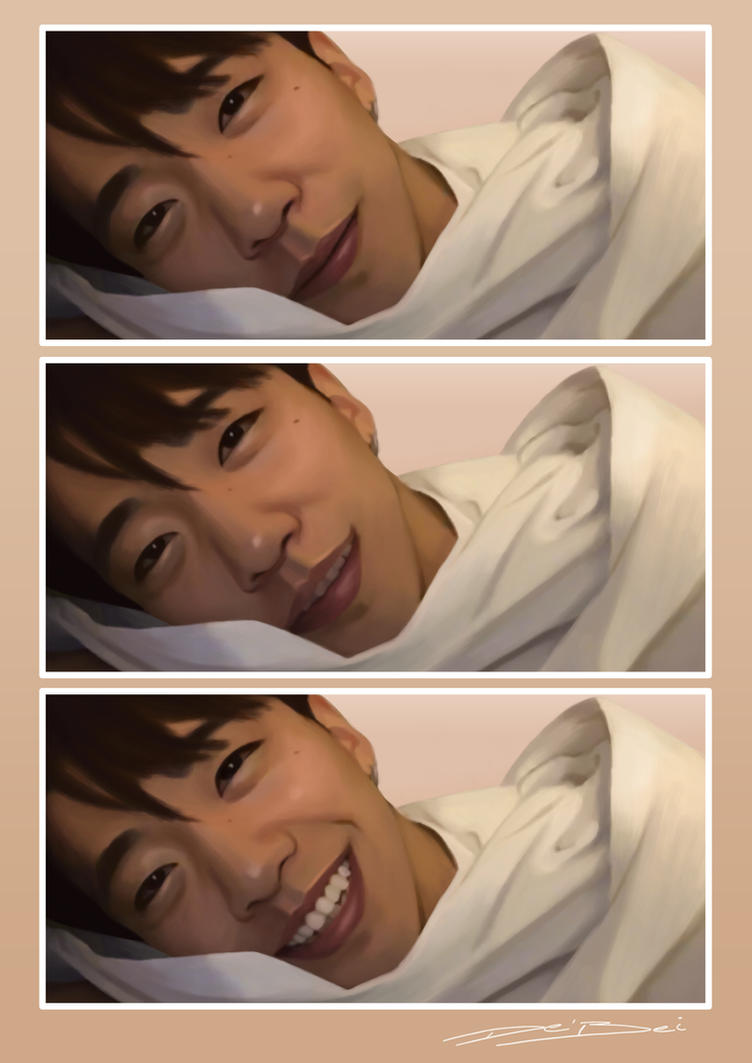 Yongguk's smile by heartsless