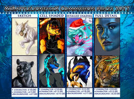 COMMISSION PRICES by XxBattleLionessxX