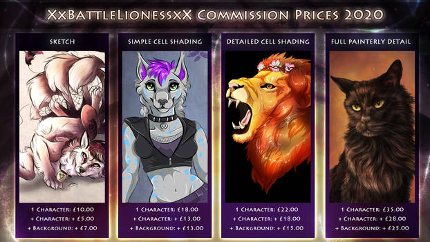 !!COMMISSION PRICES 2020 - OPEN!!