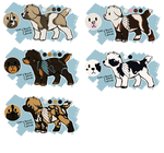 .: Plushie Pups Adoptables /open 100points each