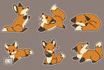 .: P2U - Fox Stickers