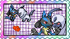 Lucario x Absol stamp by eeveexriolu