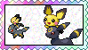 Umbreon and Pichu Brother love stamp by eeveecupcakegirl