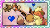 Growlithe x Eevee stamp by eeveecupcakegirl