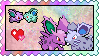 Nidoran love stamp by eeveecupcakegirl