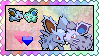 Shiny Nidoran (Male) x Nidoran (Female) stamp