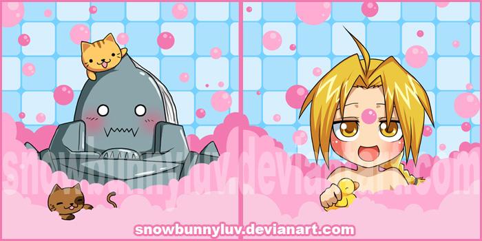 FMA - Ed and Al bath Remake by snowbunnyluv