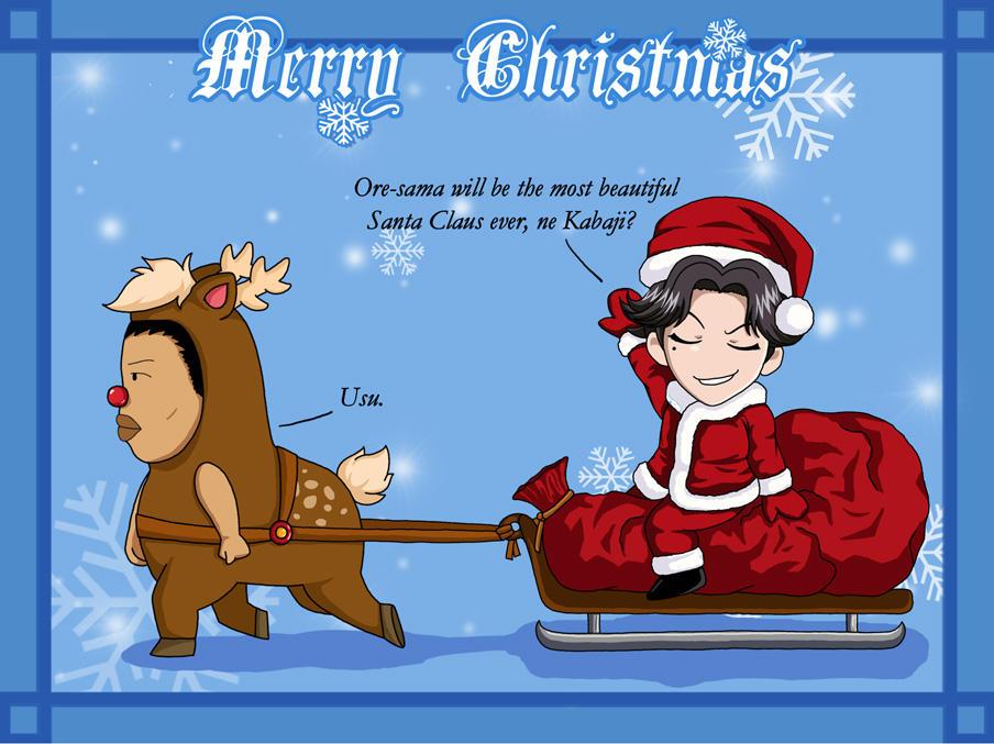 Merry Xmas- Atobe and Kabaji by snowbunnyluv
