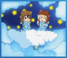 Cloud- KKM- Yuuri and Wolfram by snowbunnyluv