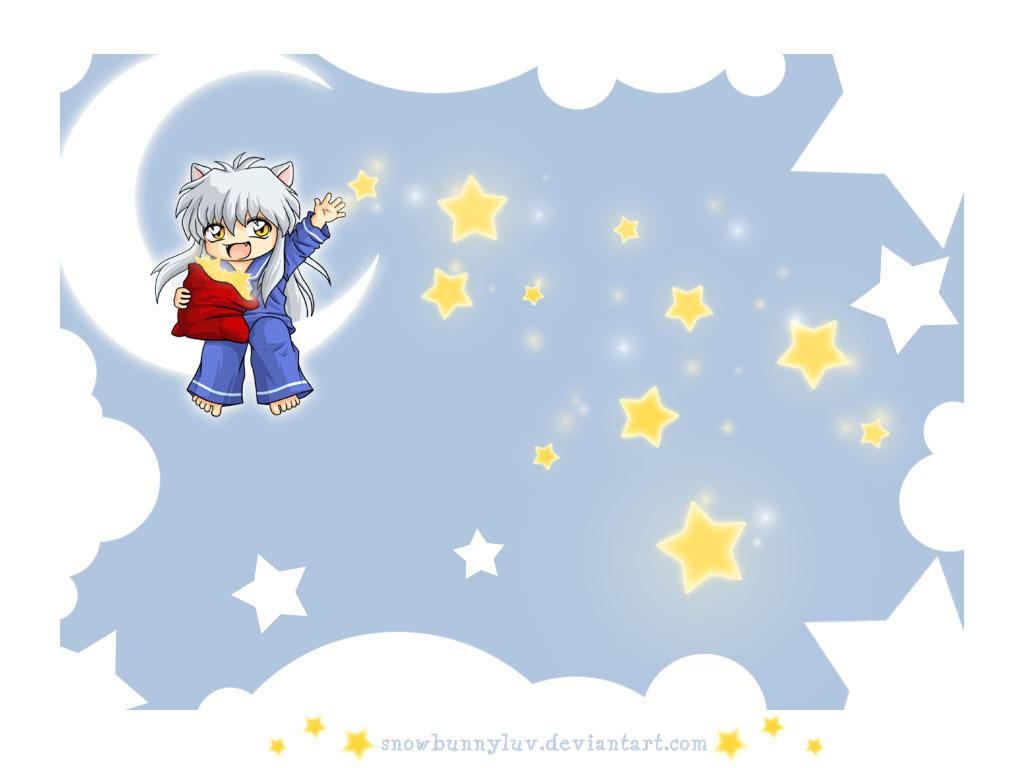 Inuyasha Stars Wallpaper by snowbunnyluv