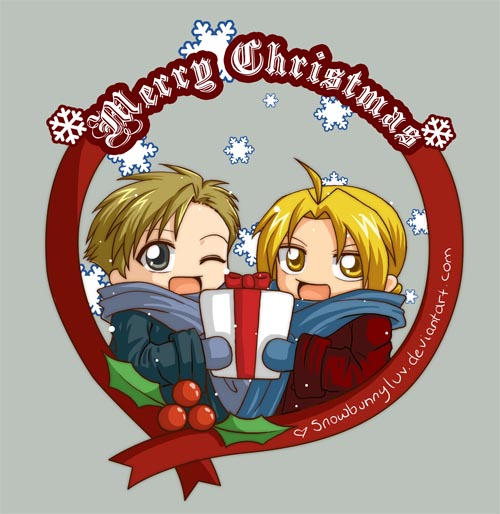 Elric Xmas and New Year by snowbunnyluv
