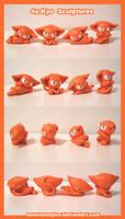 4 x Kyo Sculptures by snowbunnyluv