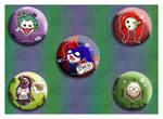 Batman Buttons Set Two