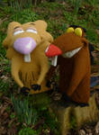 Angry Beavers Needle Felt Commission
