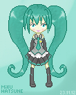 Hatsune Miku Pixel by NassuArt